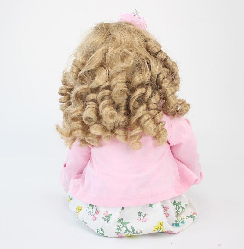 60 cm vinilo de silicona renacer muñeca juguetes 24 pulgadas rosa - Muñecas y accesorios - foto 5