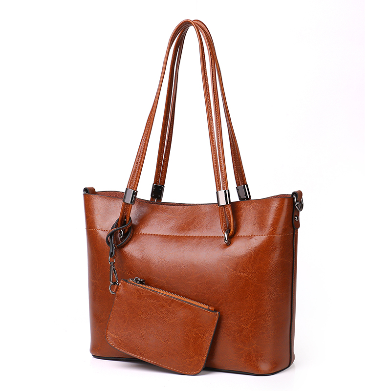 41e57af56e Women Casual Tote Genuine Leather Handbag Bag Fashion Vintage Large  Shopping Bag Designer Crossbody Bags Big Shoulder ...