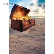 Laeacco Suitcase Jewelry Pirate Backdrop Baby Portrait Photography Background Customized Photographic Backdrops For Photo Studio