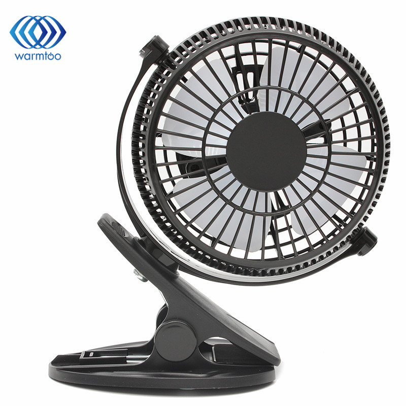 1Pc Portable Clip-on Quiet Table USB Fan 2 Gear Rocker Switch Mini Desk Fan Powered Cooling Flexible Computer Fan for PC Laptop