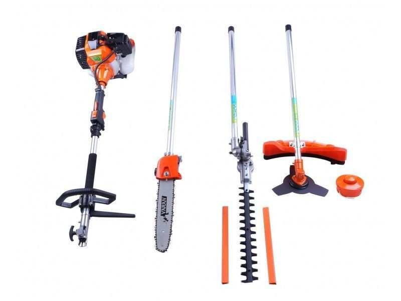 Heavy duty 4 in 1 Grass cutter with 52cc Engine Multi Brush cutter Petrol strimmer Tree Pruner cutter trimmer