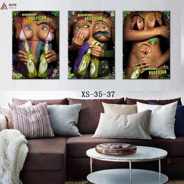 nordic plaques wall art canvas prints triptych art print creative portrait personality hd print free shipping