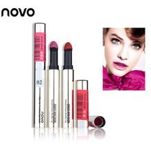 Newest Novo Silky Air Cushion Powder Matte Lipstick Long lasting Waterproof Bite Lips Smooth Elastic Lip Stick Makeup Lip Tint