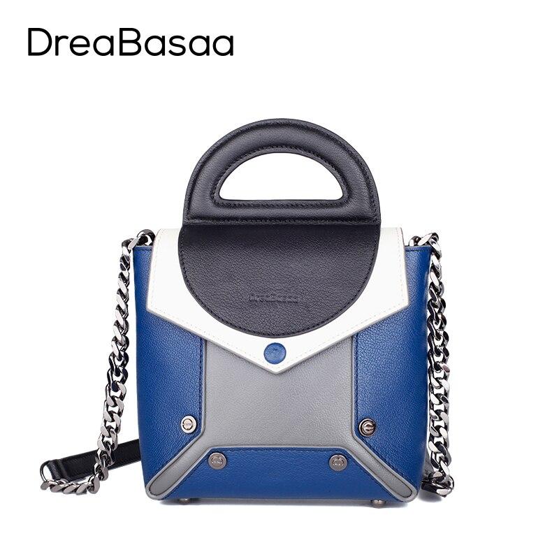 DreaBasaa font b Women b font Messenger font b Bags b font Genuine Leather font b