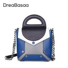 Dreabasaa bolsas mensajero de las mujeres de lujo del cuero genuino mujeres de los bolsos diseñador 2016 de la moda bolso crossbody bolsa para ladiese