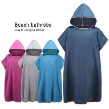 Zipsoft mikrofiber hızlı kuru değişen elbise panço hood ile yüzmek plaj sörf panço kompakt hafif Wetsuit kapşonlu havlu