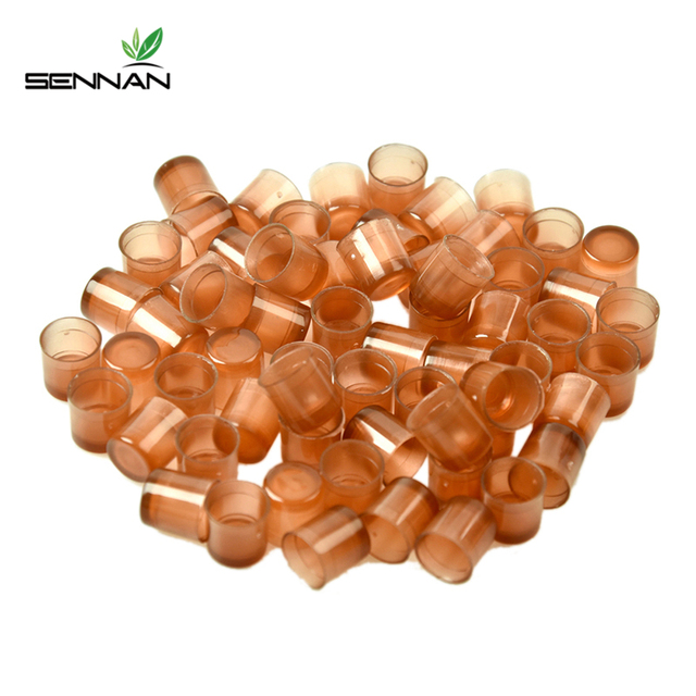 Sennan 120 Pcs Beekeeping Queen Cell Brown Bee Feeding Tools Applicable To Beekeepers
