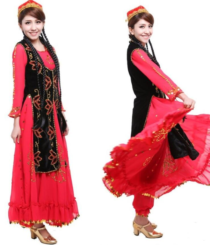 Women Xinjiang dance clothing female dance costume costumes ethnic adult new