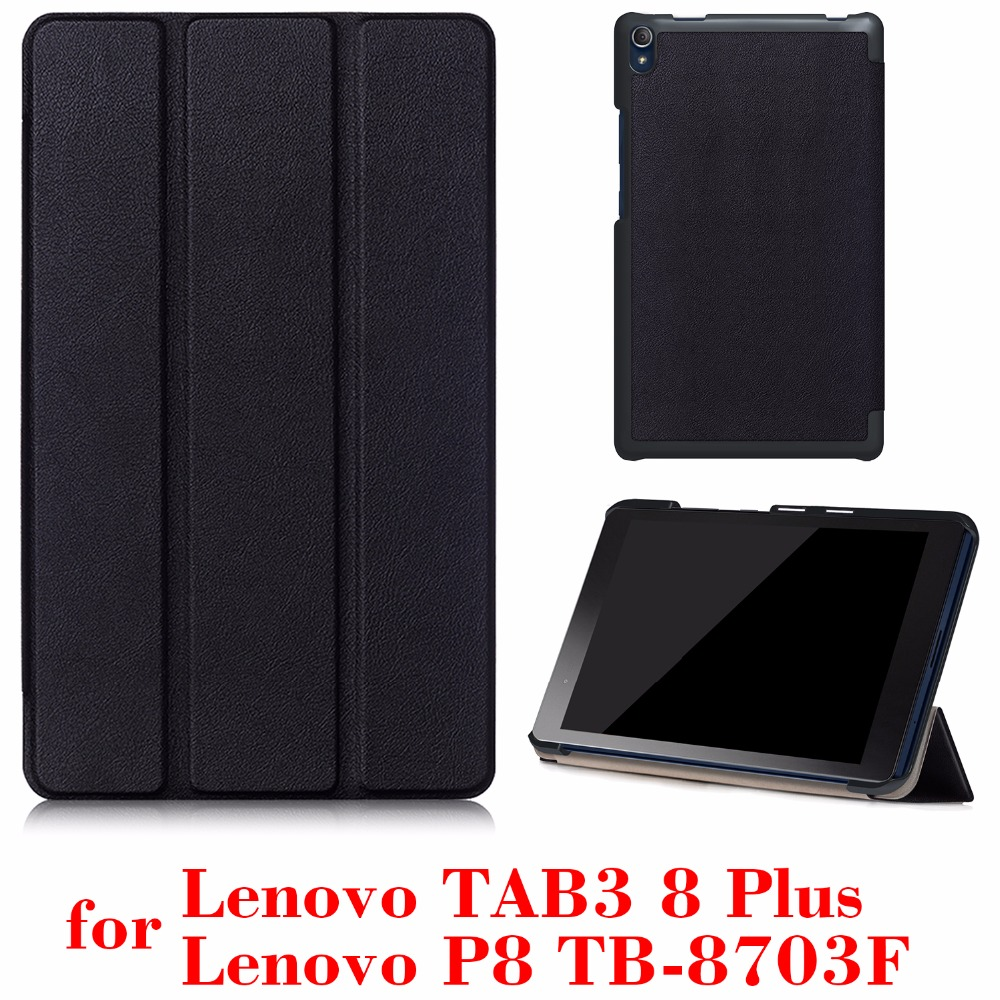 for Lenovo Tab3 8 Plus  & P8 TB-8703 TB-8703N 8 inch Tablet 2016 release with stand  PU Leather Protective Case  feature phone