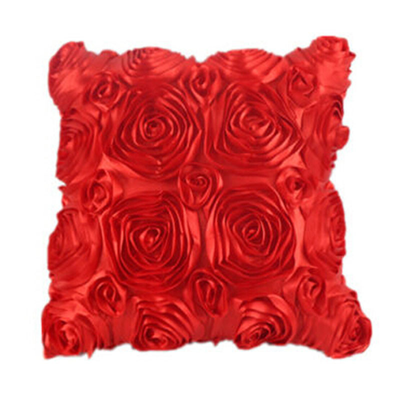 Fashion Floral Satin Pillowcase Decorative Satin Throw Sofa Pillow Case Cushion Home Pillowcase Cover Bed Pillowcases 40AP24 (2)
