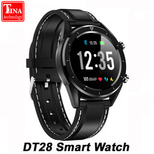 New IP68 Waterproof DT28 Men Smart Watch Payment ECG Heart Rate Monitor Fitness Tracker Wristband Smart Band Sport Wristwatch(China)