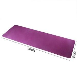 Image 4 - Estera de Yoga antideslizante de dos colores Tpe de 6Mm, estera deportiva de 183x61Cm, estera insípida para gimnasio en casa