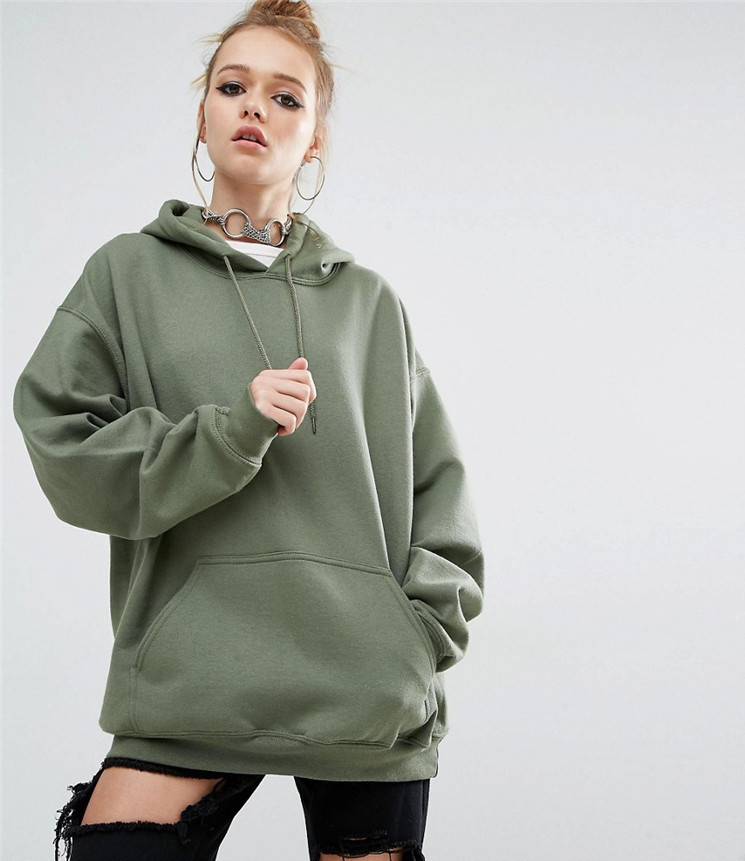 ᗖS-5xl Autumn/winter New Loose Pure Color Hooded Bat-sleeved ...