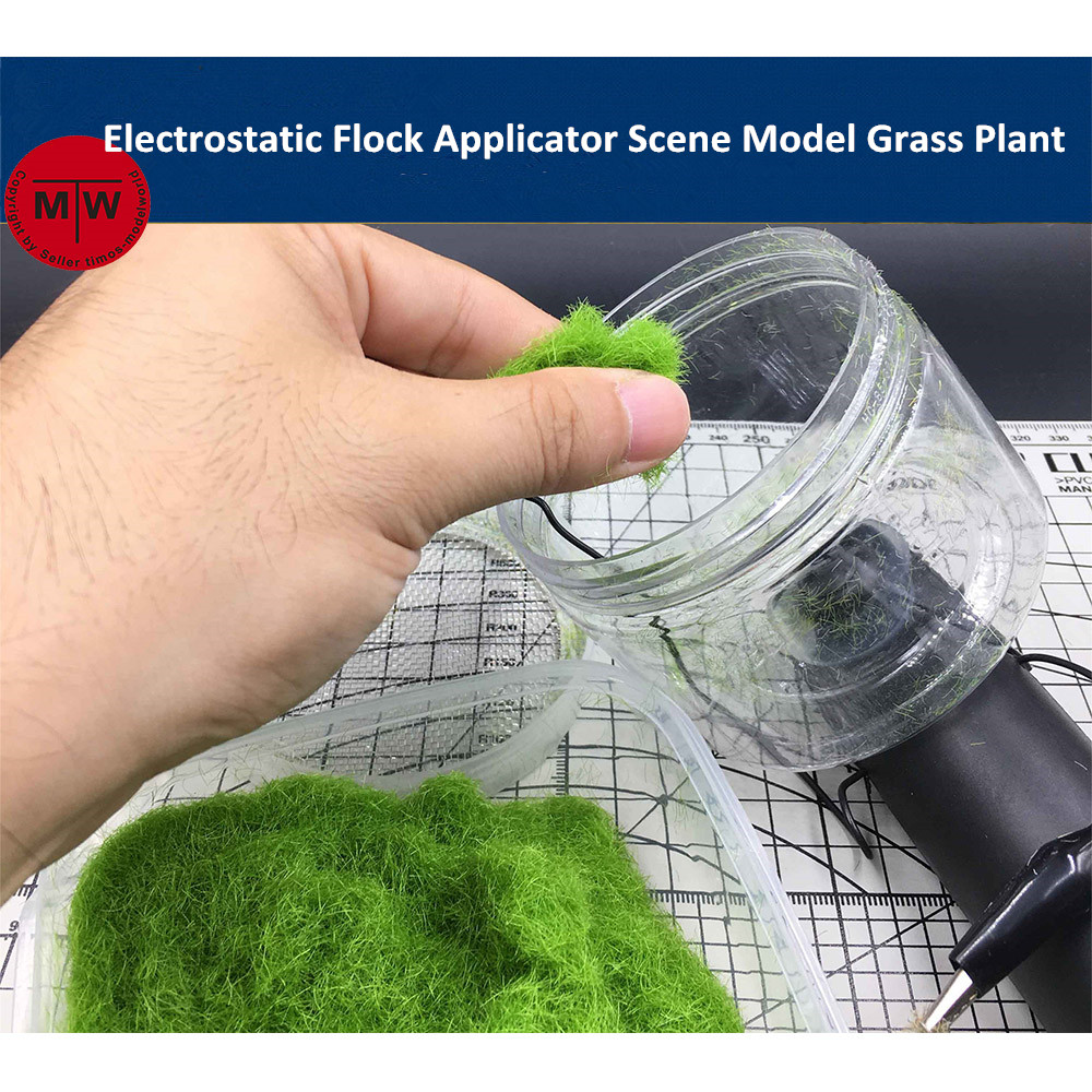 Mini Electrostatic Flock Applicator Scene Model Grass Plant DIY Tools Battery Powered