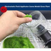 Mini Elektro Flock Applikator Szene Modell Gras Pflanze DIY Werkzeuge Batterie Powered