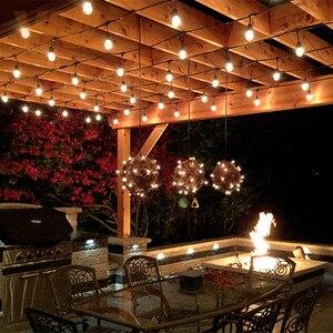 Image 5 - VNL IP65 15 m 15 Bóng Đèn LED S14 Chuỗi Đèn E27 LED Retro Edison Bóng Đèn Dây Tóc Ngoài Trời Sân Kỳ Nghỉ sáng Ánh Sáng đám cưới Chuỗi