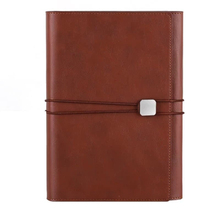 Delijia imitation cowhide material business notebook company custom multi-color choice loose-leaf A5