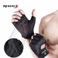 REXCHI Crossfit Turnhalle Handschuhe für Fitness Männer Frauen Half Finger Workout Sport Ausrüstung Gewichtheben Bodybuilding Hand Protector