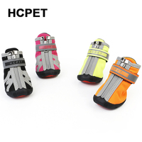 HCPET 4pcs Waterproof Winter Pet Dog Shoes Anti Slip Snow Pet Boots Paw Protector Warm Reflective