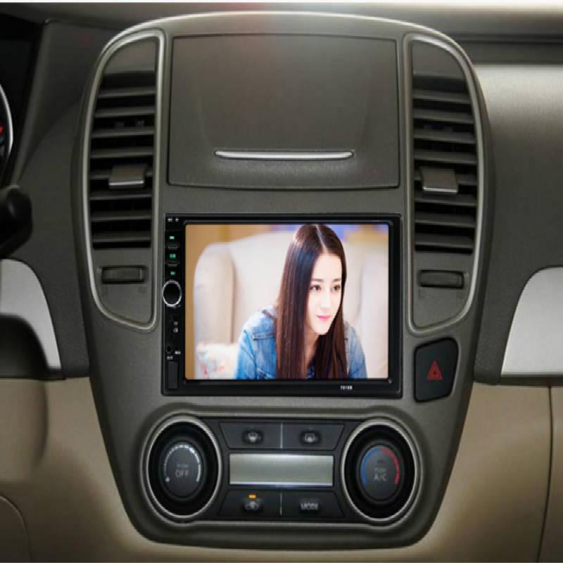 Général 7 pouces écran tactile autoradio 2 Din voiture stéréo Audio voiture Audio Bluetooth 1080 P FM Radio Support une variété de fonctions