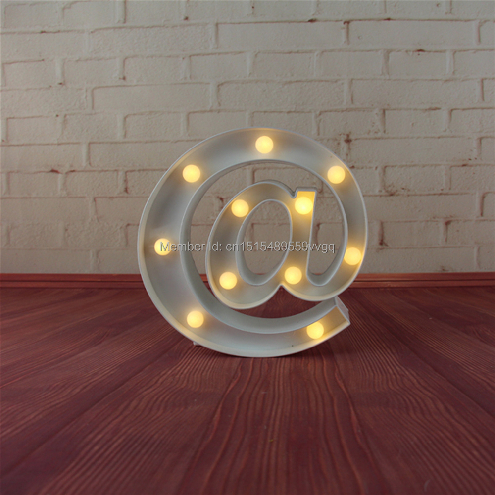 9 quot at tag LED Marquee Sign LIGHT UP Vintage white and black Plastic neon light holiday Indoor Deration Free shipping in Night Lights from Lights amp Lighting