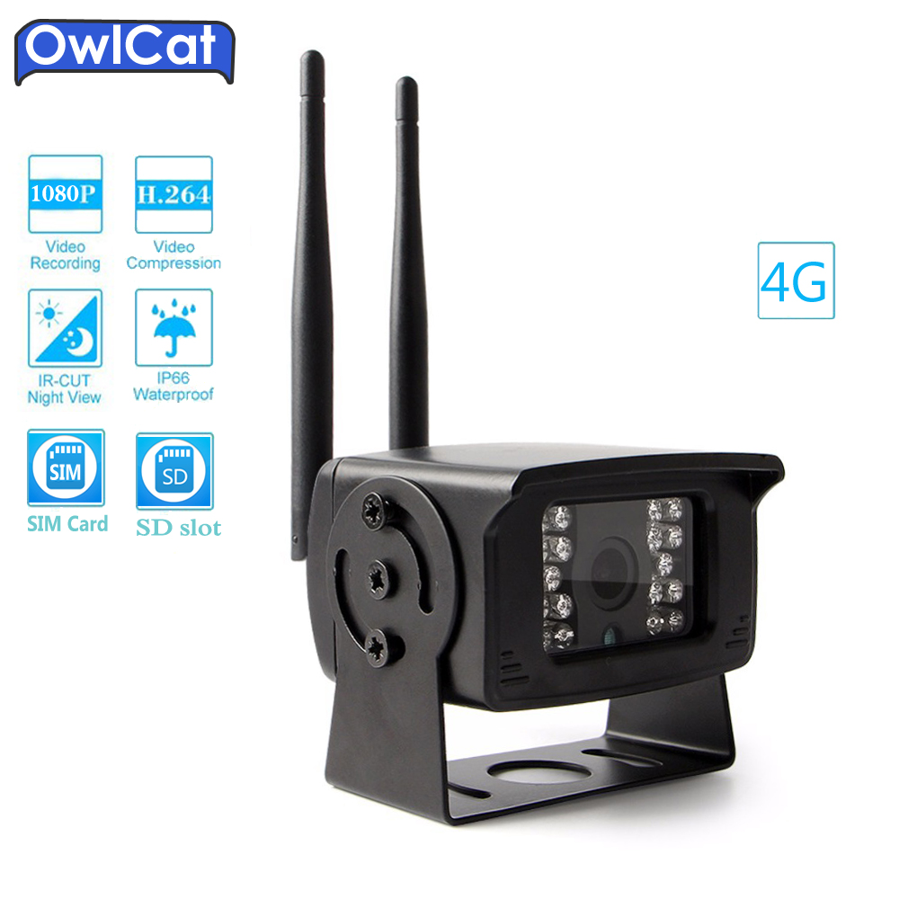 OwlCat MINI 720P 1080P 4G SIM Card WIFI Camera Outdoor Support CCTV Surveillance Camera P2P View TF Card Slot Max 128G APP CamHi hd 720p 1080p wifi ip camera 960p outdoor wireless onvif p2p cctv surveillance bullet security camera tf card slot app camhi