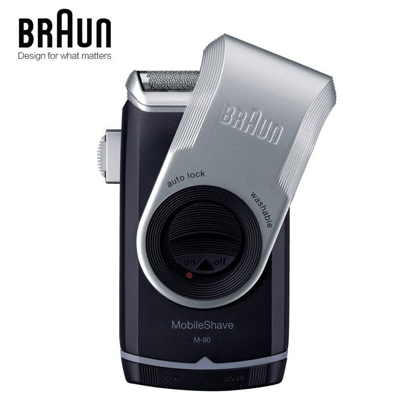 Braun M90 Electric Shaver Razor Mobile Shave Trimmer Washable Beard Molding Shaving Machine Dry Battery Portable For Travel