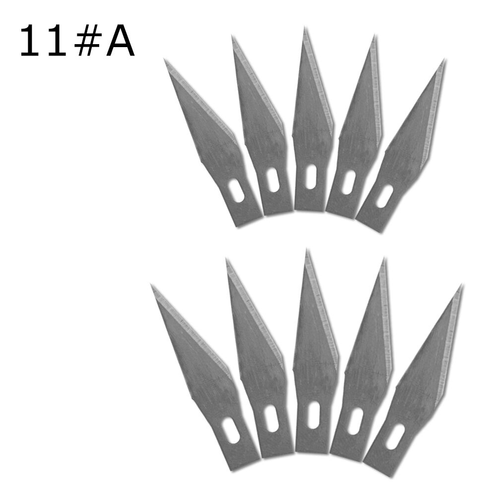 10 Pcs One Lot 11# Wood Carving Knife Blade Replacement Surgical Scalpel Blade Engraving Craft Sculpture Knife