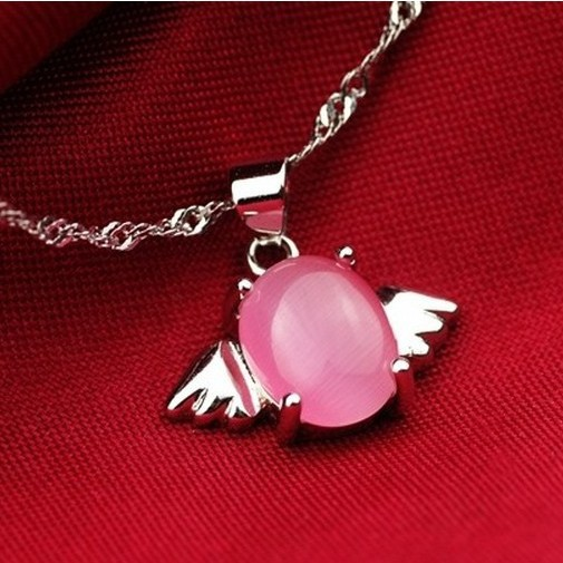 df3a4226d5ec Piedra Natural de plata 925 colgante de collar de cuentas de transferencia  de los huevos de ángel venta al por mayor