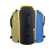 35L outdoor inflatable dry bag rafting waterproof backpack waterproof bucket bag beach waterproof bag trekking