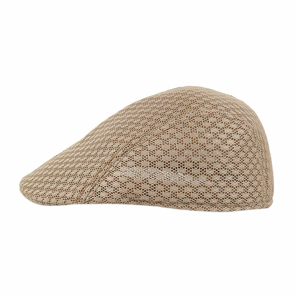 Respirant maille gavroche décontracté béret casquettes nouveaux hommes 2019 nouveau mode chapeaux mode gentleman pour le mâle # YL5