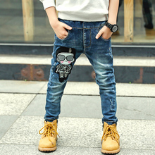 lastic Waist Stretch Denim Pants