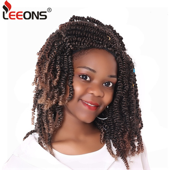 Leeons Kanekalon Crochet Hair Braids 8inch Soft Spring Twist Hair