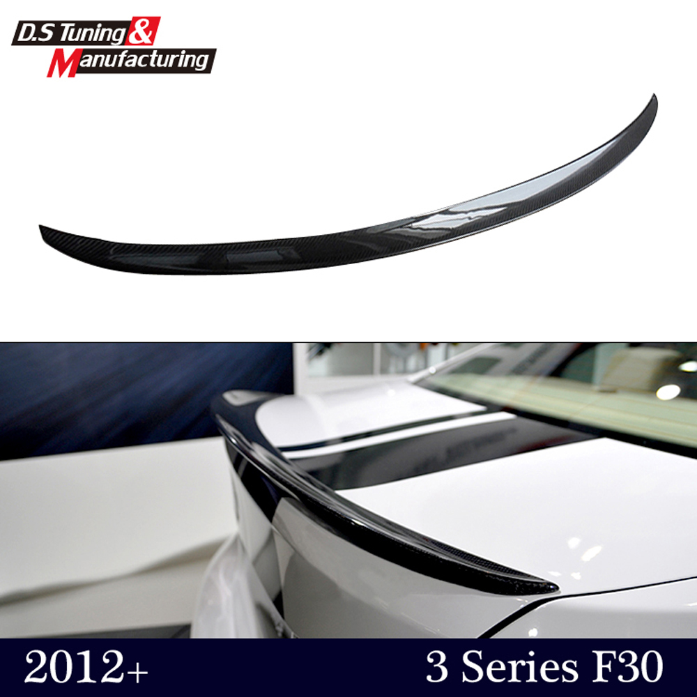 ▽M performance style carbon fiber rear trunk wing spoiler for bmw 3 ...