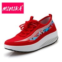 e0404ffd9 Minika Women Breathable Mesh Sneakers Woman Running Shoes Lightweight  Sports Outdoor Shoes Athletic Footwear Hot Quality