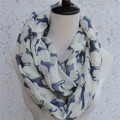 Hot style voile the dog collar Animal printed collar dog infinity scarf