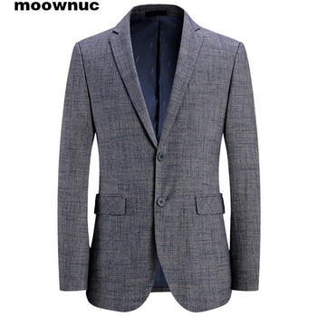 New style Classic Grey Blazers men 2019 mens suits slim fit Business blazer Casual dress Male size M -4XL Free Shipping