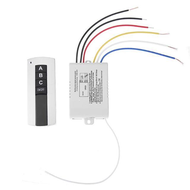 Mando a distancia Digital inalámbrico, 3 vías, 220V, 3 canales, interruptor de Control remoto Digital para lámpara, ventilador de escape