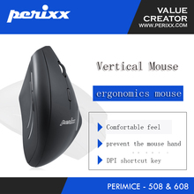 New arrival Germany Perixx PERIMICE-508/608 wired/wireless vertical ergonomic mouse office home gaming mouse blue light