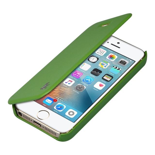Jisoncase para iphone se case pu de couro para iphone 5s/5 marca anti-knock tampa articulada de luxo