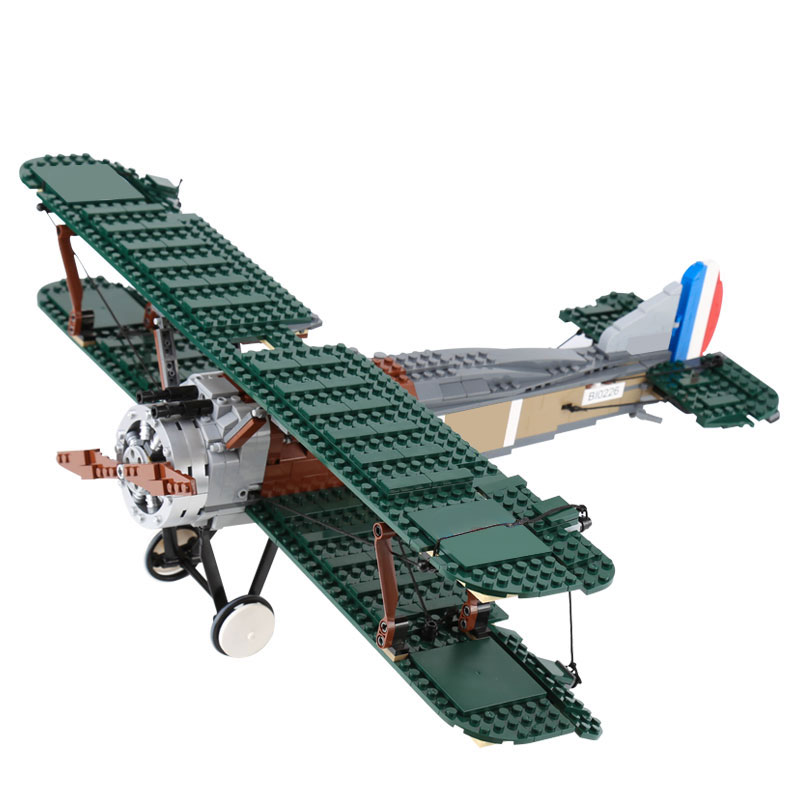 LEPIN 21021 City Creator Sopwith Camel Fighter Figure Blocks Compatible Legoe 10226 Construction Building Toys For Children waz compatible legoe city lepin 2017 02022 1080pcs city 50th anniversary town figure building blocks bricks toys for children