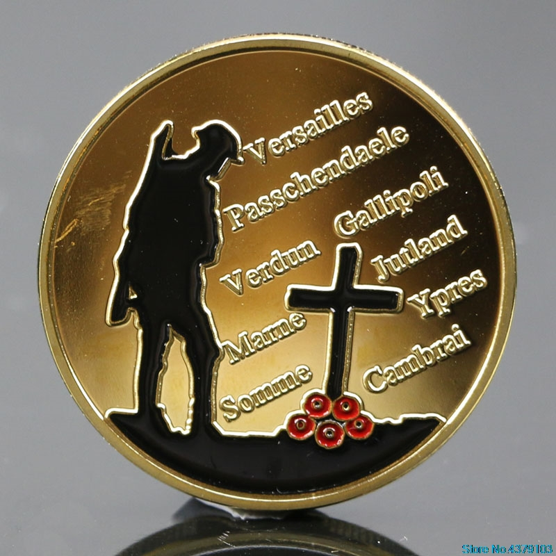 2020 New Gold Plated The Great War Commemorative Coin Art Collection