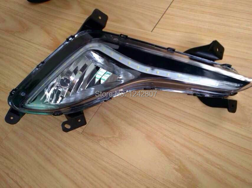бесплатная доставка! Светодиодные DRL фары дневного света Противотуманные фары для Хендай Элантра Аванте 2014 2015 новые стайлинга автомобилей супер яркий