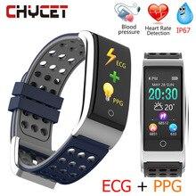 Chycet E08 умный Браслет ЭКГ PPG измерение кровяного давления фитнес-трекер часы браслет водостойкий пульсометр для женщин