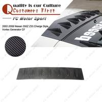 Car Accessories Carbon Fiber CS Style Rear Vortex Generator Fit For 2002 2008 350Z Z33 Roof Spoiler Wing