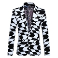 Formal suits for Men Black and white jacquard Fashion casual suits Male Men Suits personality blazer High-quality Gent-Life