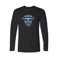 New Breaking Bad T Shirt Long Sleeve Spring Heisenberg T Shirt Men Funny Black White Tee