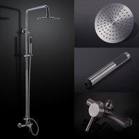 Ванная комната Нержавеющаясталь смеситель для душа Системы свинца с осадков Насадки для душа регулируемый душ бар