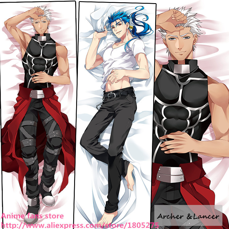 Cool Japanese Anime Pillowcase Fate Stay Night Zero Archer & Lancer BL Pillow Case Cover decorative Hugging Body