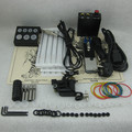 Complete Beginner Tattoo Kit Set Tattoo Machine Gun Power Supply Needle Grip Tip Combo Supply TKS124#